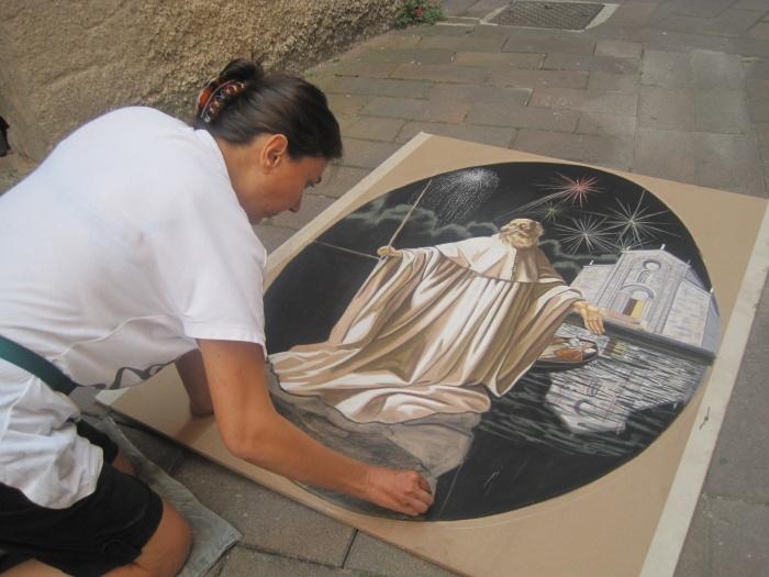 I Madonnari ricordano Sant'Ercolano a Maderno