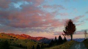 Sul monte Stino verso il crepuscolo