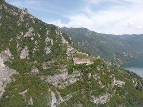 Rocca d'Anfo dall'elicottero