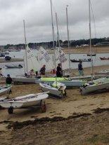 In barca sull'isola di Wight