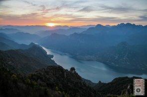 Veduta del lago d'Idro