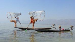 Pescatori sul lago Inle, Myanmar