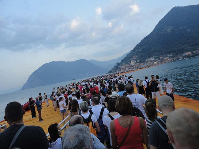 The Floating Piers, i video a 360 gradi