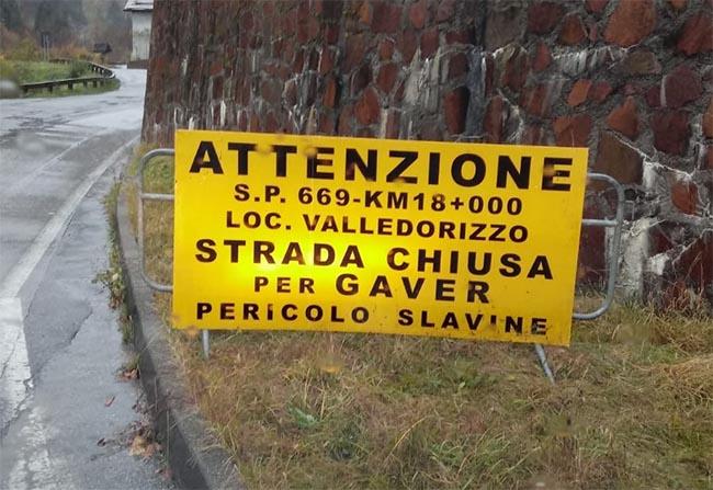 Bagolino - Chiusa la strada per il Gaver - Valle Sabbia News